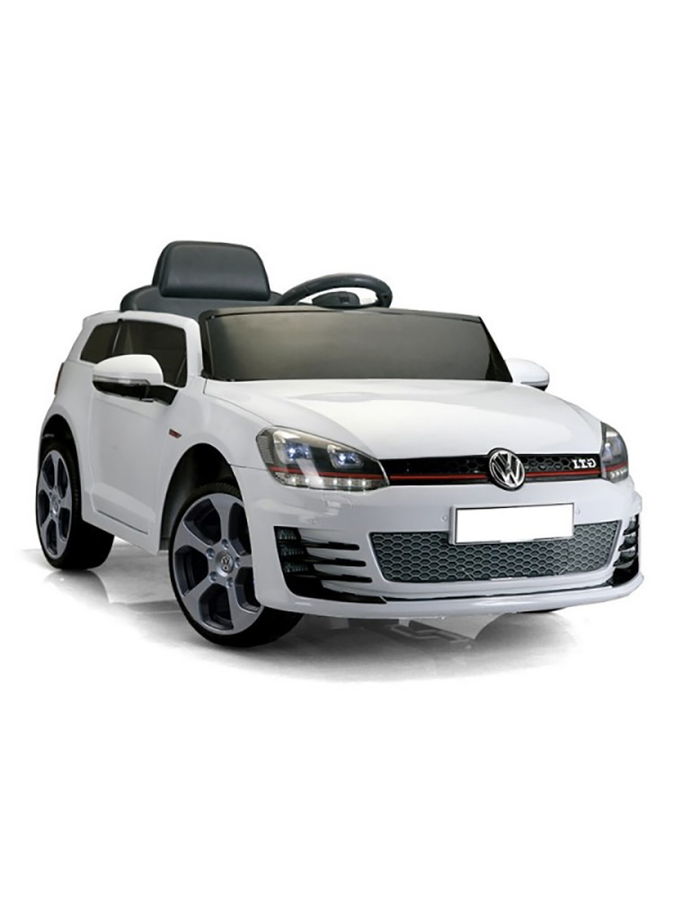 voiture lectrique 12v volkswagen golf gti blanche. Black Bedroom Furniture Sets. Home Design Ideas