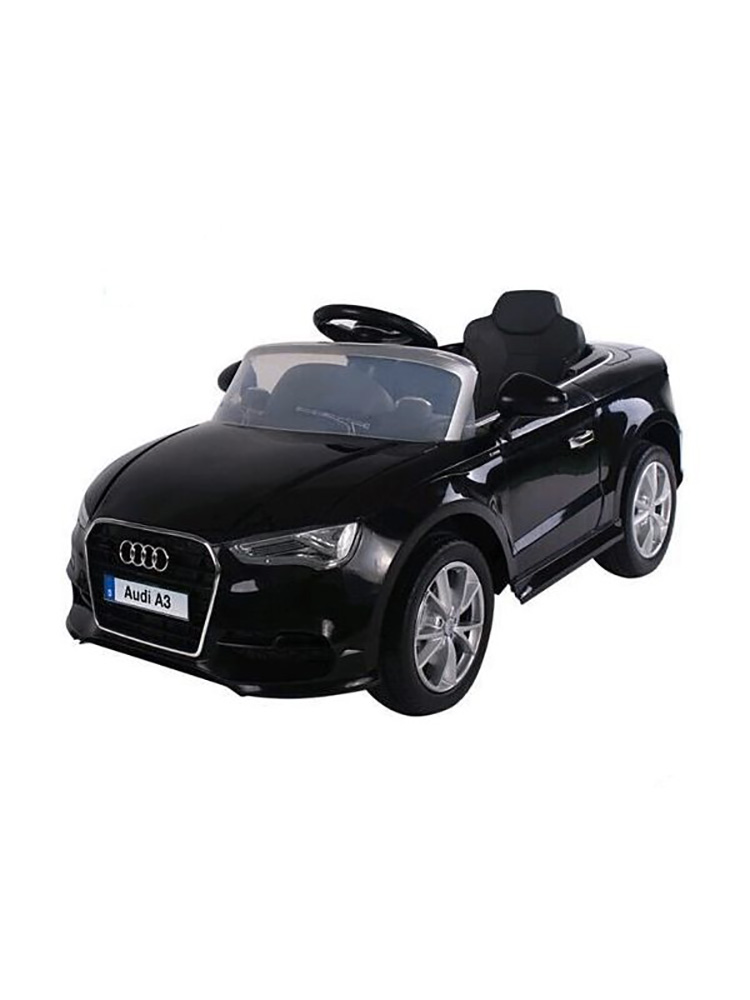 voiture lectrique 12v style audi a3 noire. Black Bedroom Furniture Sets. Home Design Ideas